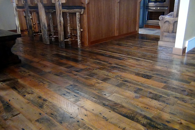 Rustic color schemes for your home storehouse salvage blog for Recycled hardwood floors